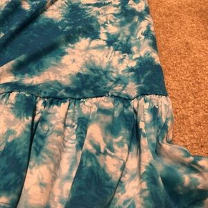 Beautees Dresses - Girls' Blue Tie-die Maxi Dress